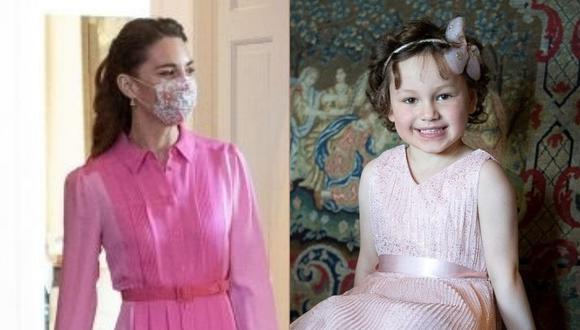 Catalina de Cambridge cumplió el sueño de Mila Sneddon tras prometérselo en una llamada telefónica. (Foto: AFP / Composición)