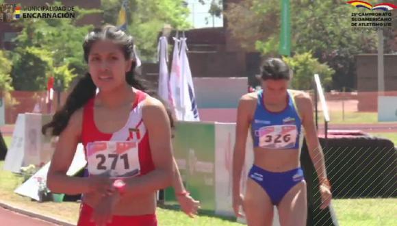 Anita Poma se proclamó campeona en los 800 metros planos del Sudamericano U18 en Paraguay. (Foto: Twitter)