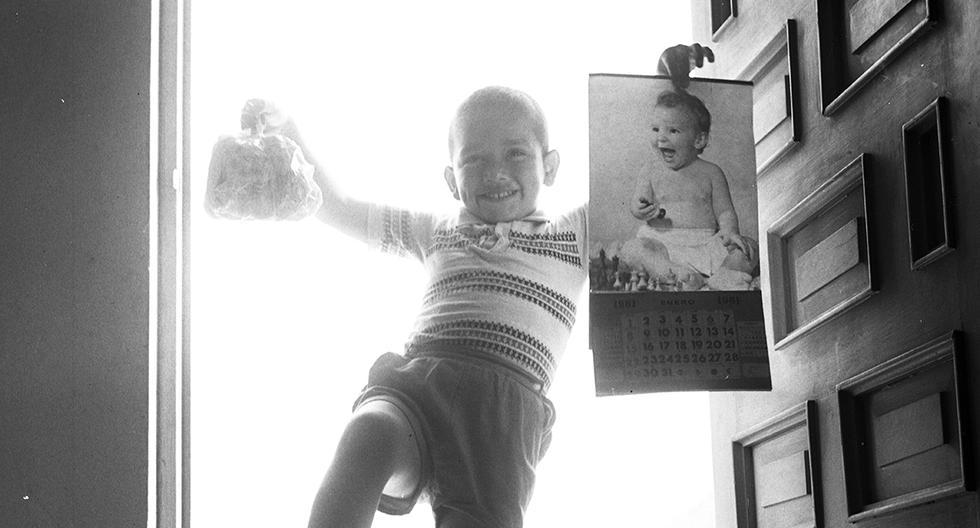 Producción fotográfica realizada en 1960 para dar la bienvenida al Año Nuevo. Foto: GEC Archivo Histórico