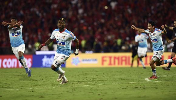 A pesar de la derrota por 3 tantos a 1, Junior se coronó campeón de la Liga Águila 2018 venciendo en un global de 5 a 4 a Independiente de Medellín. | AFP