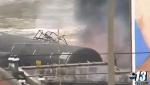 Tren con petróleo se descarrilló e incendió en EE.UU.