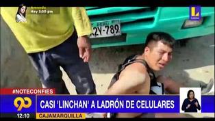 Cajamarquilla: Vecinos atrapan a sujeto acusado de robar celulares