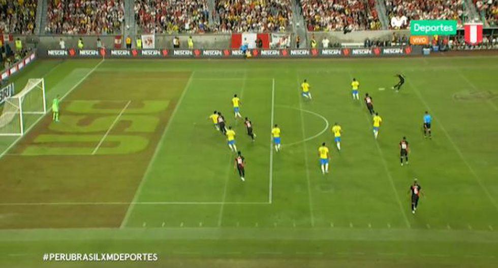 Perú vs. Brasil EN VIVO: Luis Advíncula busco el 1-0 con potente remate desde fuera del área | VIDEO. (Video: Movistar Deportes / Foto: Captura de pantalla)