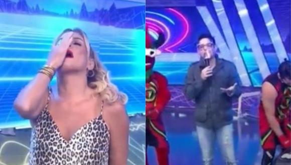 Gian Piero Díaz le pide a Johanna San Miguel que no grite. (Foto: Captura América TV).