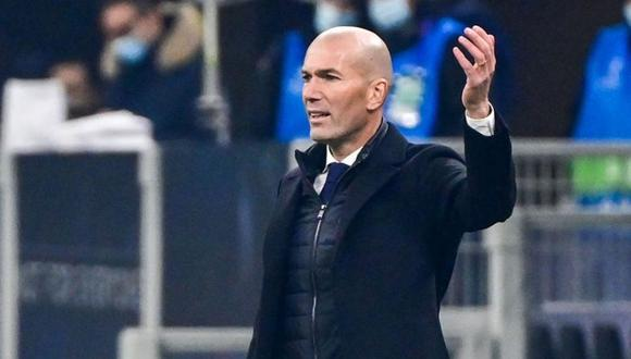 Zinedine Zidane confiando en llegar a octavos de final de Champions (Foto: AFP)