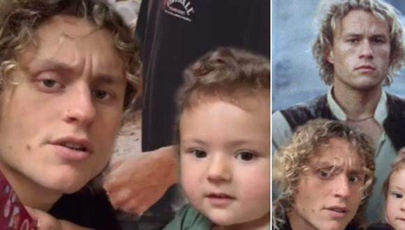 Una niña confundió a su padre con Heath Ledger y la escena sorprendió a miles de usuarios. (Foto: @7eth / TikTok)