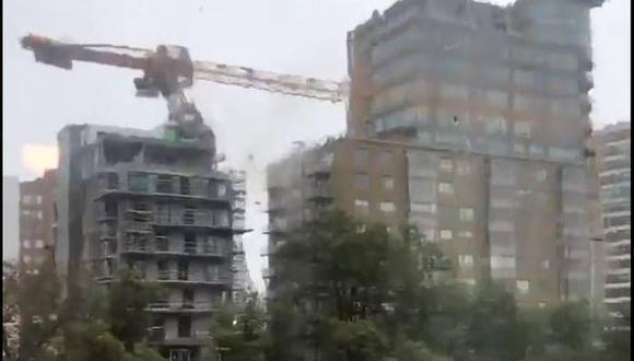 Con sus vientos de hasta 155 kilómetros por hora, el huracán Dorian causó destrozos en la ciudad de Halifax, provincia de Nueva Escocia, Canadá. (Captura de video).