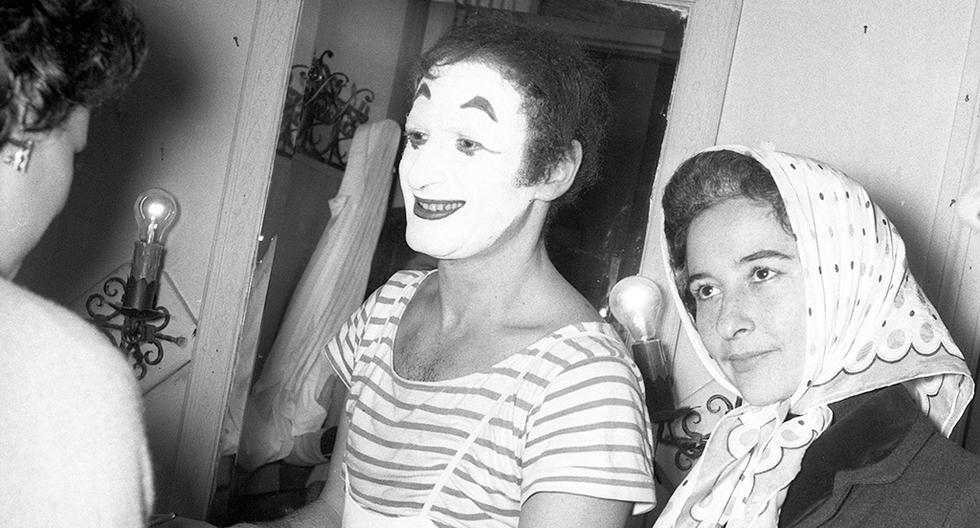 El único e incomparable mimo francés Marcel Marceu estuvo en Lima en 1961. Foto: GEC Archivo Histórico