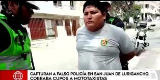 SJL: detienen a falso policía que cobraba cupos a mototaxistas