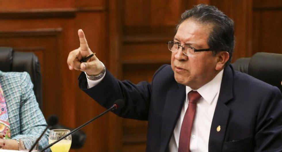El fiscal supremo Pablo Sánchez asumirá la titularidad del Ministerio Público mientras Zoraida Ávalos está de vacaciones. (Foto: Congreso de la República)