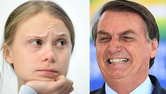 """Jair Bolsonaro llama """"mocosa"""" a Greta Thunberg. (AFP)."""