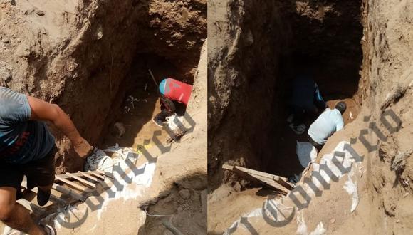 Esta excavación subterránea se ejecutó desde una vivienda ubicada en la cuadra 8 de la avenida Santa Rosa.