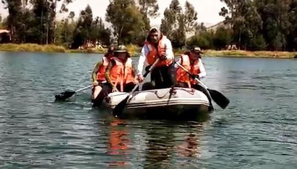 Escuadrón de Emergencia de Huancayo realiza la búsqueda de joven desaparecido. (Foto: Andina)