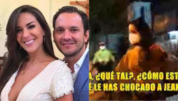 Silvia Cornejo chocó el auto de su esposo en el distrito de Surco y todo terminó en denuncia policial. (Foto: Captura Instagram/Magaly TV: La Firme)