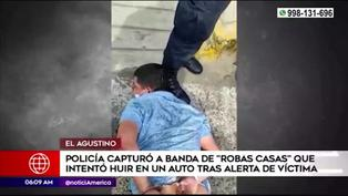 El Agustino: PNP capturó a banda de robacasas
