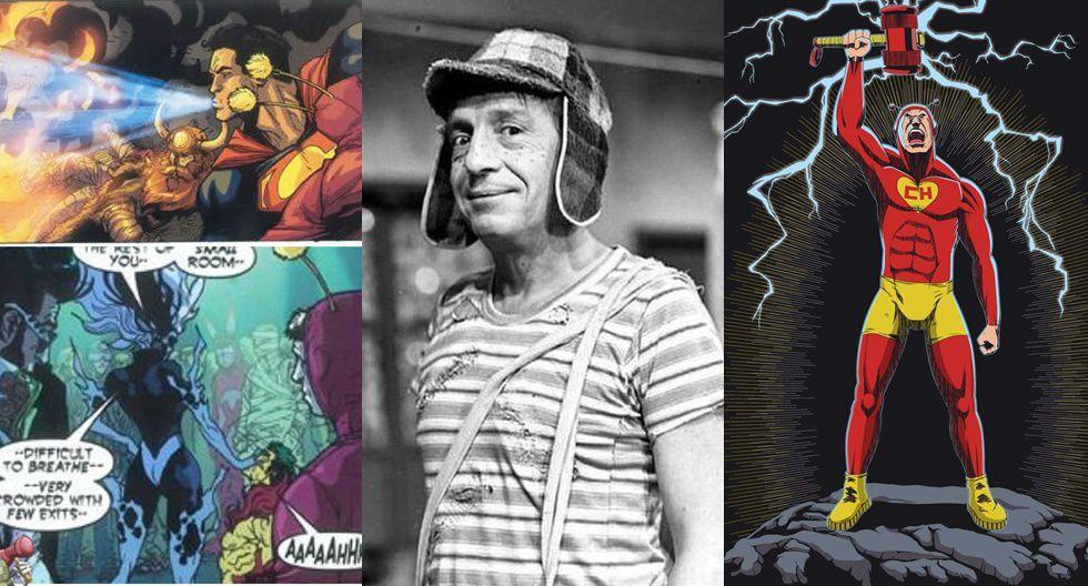 El primer producto que producirá el Grupo Chespirito será la bioserie sobre el actor. Foto: (Izquierda) Aparición de El Chapulín Colorado en las páginas de Action Comics #820 de 2014, (Centro) Gómez Bolaños como el Chavo del 8, (derecha) El superhéroe modernizado (deviantart.com)