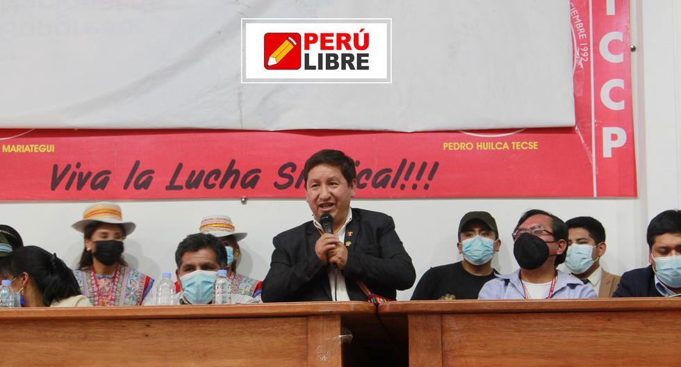 Guido Bellido participó en congreso partidario en Arequipa (Foto: Facebook de Perú Libre)
