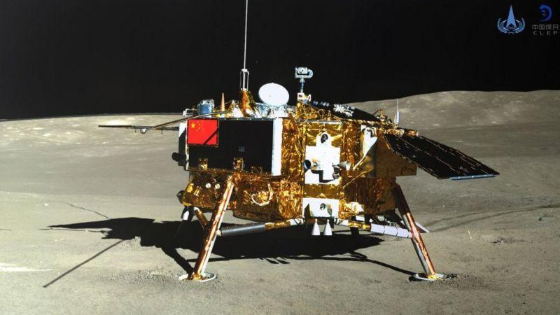 La cara oculta de la Luna: en 2019, la sonda china Chang'e-4 fue la primera en la historia en alunizó en el lado oscuro de nuestro satélite. (GETTY IMAGES)