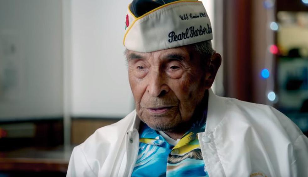 Raymundo Chávez, el superviviente más longevo de Pearl Harbor fallece a los 106 años | Foto: Captura TV
