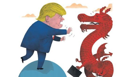 Unos 600 millones de dólares es el presupuesto del CFDI con el que Estados Unidos busca enfrentar el avance de China como el gran financista de países en vías de desarrollo. (Ilustración: Víctor Aguilar Rúa / El Comercio)