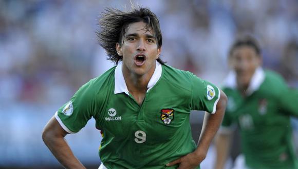 Marcelo Martins es uno de los principales referentes de la selección de fútbol de Bolivia | Foto: AFP