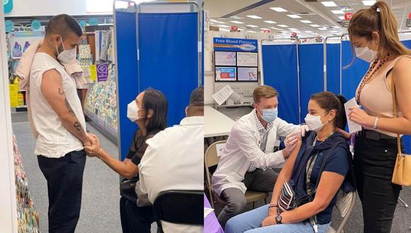 Karen Schwarz y Ezio Oliva se vacunaron en Estados Unidos contra el COVID-19. (Foto: Instagram)