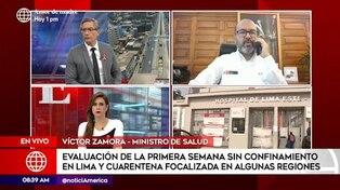 Ministro Zamora indica que tendencia de contagios por COVID-19 continúa bajando