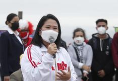 """Keiko Fujimori a Pedro Castillo: """"Seremos un muro de contención frente a su amenaza de una nueva Constitución"""""""
