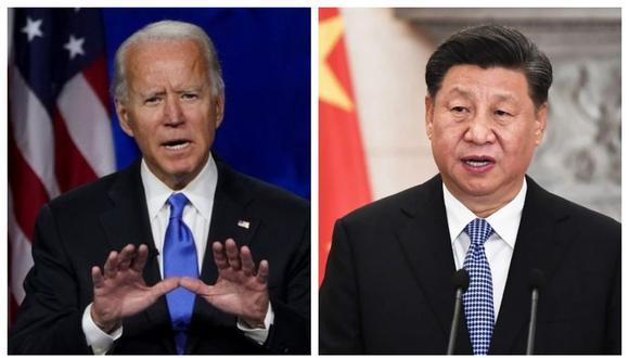 Joe Biden, presidente de Estados Unidos, Xi Jinping, su homólogo de China. (Foto: Reuters / EFE).