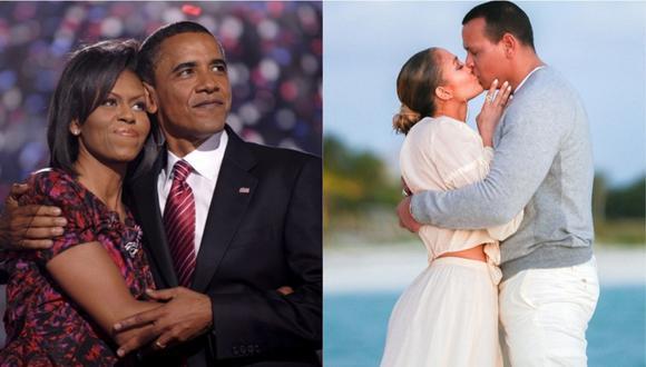 Barack y Michelle Obama felicitaron a Jennifer Lopez y Álex Rodriguez tras anunciar su compromiso. (Foto: EFE / Instagram)