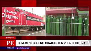 Puente Piedra: planta móvil de oxígeno medicinal recarga balones gratis