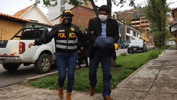 Detienen al alcalde de Chanchis (Cusco),  Jorge Quispe Callo, en megaoperativo. (Foto: Melissa Valdivia)