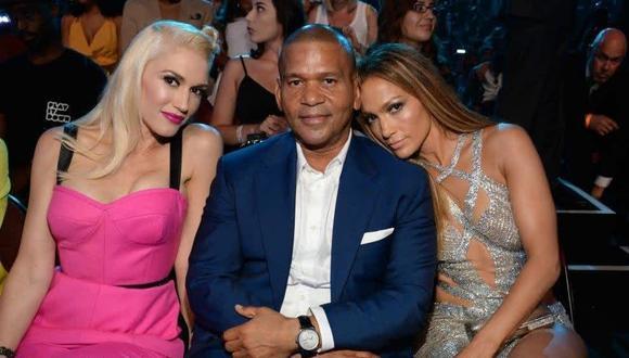 Benny Medina en la gala de los VMAS 2014, rodeado de Gwen Stefani y Jennifer López. Su vida inspiró la historia de El Príncipe del Rap. (Foto: Facebook de Jennifer López).