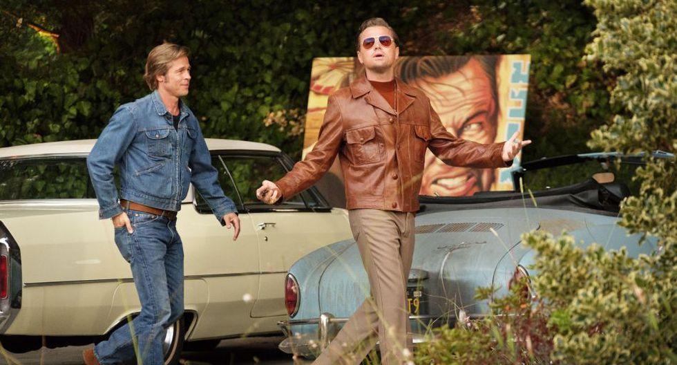 "Brad Pitt y Leonardo DiCaprio en ""Once Upon a Time in Hollywood"". (Foto: AP)"