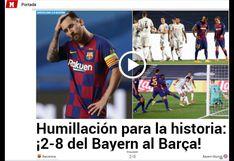 """""""Humillación para la historia"""": así informaron los medios del mundo el adiós del Barcelona de la Champions"""