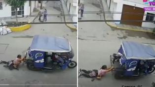 El Agustino: Mujer se aferró a mototaxi para evitar el robo de sus pertenencias