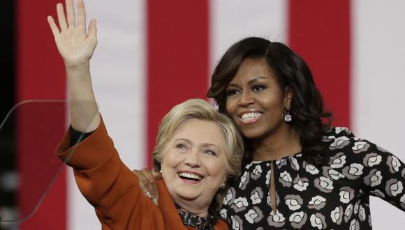 Clinton y Michelle Obama, juntas por primera vez en campaña