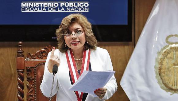 La fiscal de la Nación, Zoraida Ávalos, reiteró su apoyo a las fiscalías que ven casos emblemáticos. (Foto: Hugo Pérez)