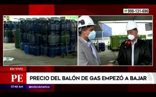 Presidente de SPGL confirma rebaja de precio del balón de gas