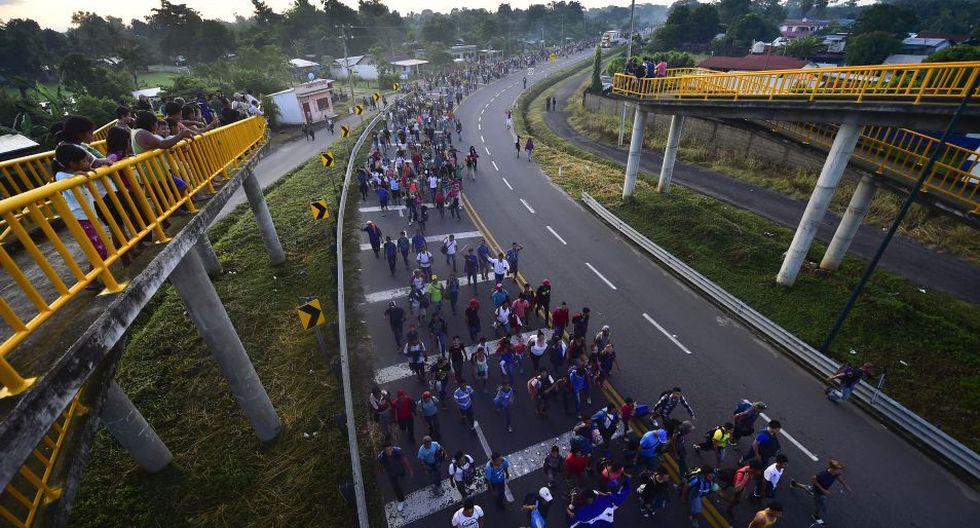 """Los mandatarios de ambos países han dicho que la """"peligrosa"""" caravana está impulsada con fines políticos. (Foto: AFP)"""