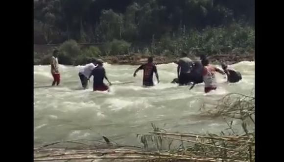 Huarochirí: hallan cuerpo de joven arrastrado por el río Rímac