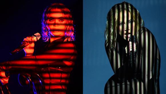 De izquierda a derecha, las presentaciones de Beyoncé en el Grammy 2014 y de Jennifer López, en los American Music Awards 2020. Fotos: Frederick J. Brown y Recording Academy para AFP.