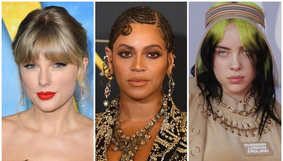Artistas como Taylor Swift, Beyoncé y Billie Eilish compiten por el premio de la Canción del año en los Premios Grammy 2021. (Foto: AFP/Angela Weiss/Robyn Beck/Tolga Akmen)