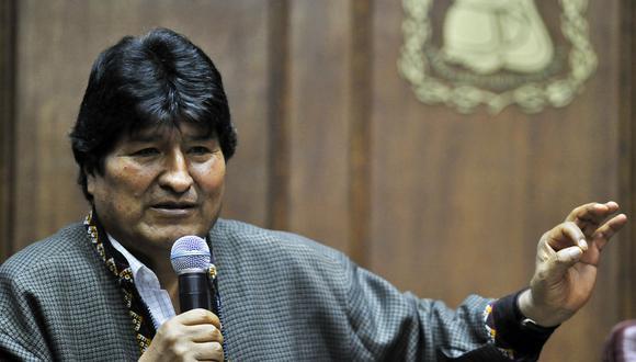 Evo Morales llegó a México luego que el Ejército de Bolivia le sugiriera su renuncia. (Foto: AFP)