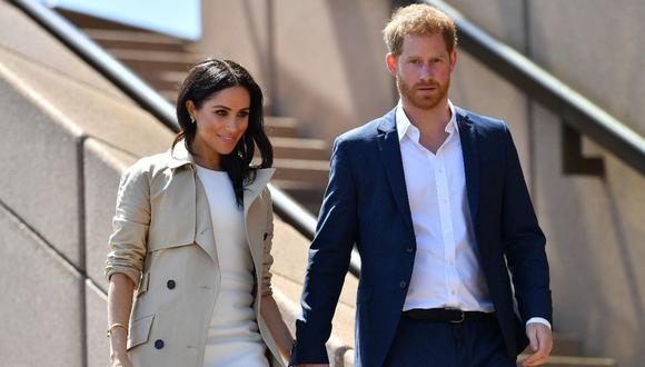 Meghan de Sussex y el príncipe Harry. (Foto: AFP   Saeed Khan)