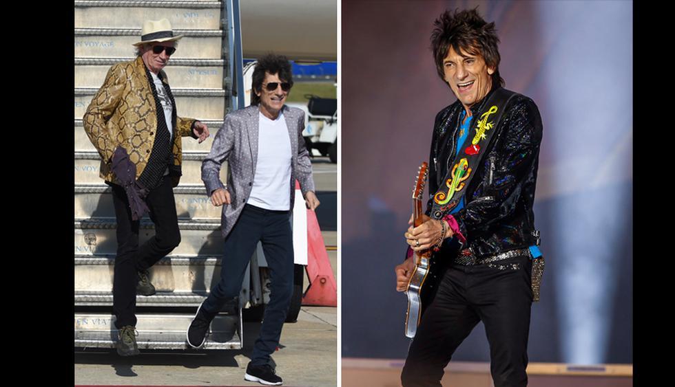 De The Rolling Stones, Ron Wood es quien más destaca a la hora de vestir, sin llegar a ser estrafalario. En su día a día combina muy bien blazers, con pantalones casuales y zapatillas deportivas. Sobre el escenario, sus looks son simplemente inspiradores. (Foto: AFP)