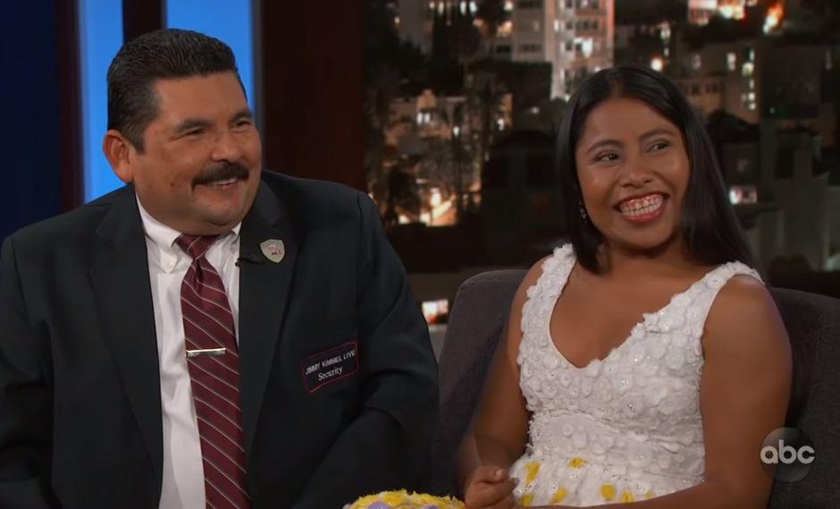 Yalitza Aparicio estuvo en el programa de Jimmy Kimmel. (Fuente: YouTube)