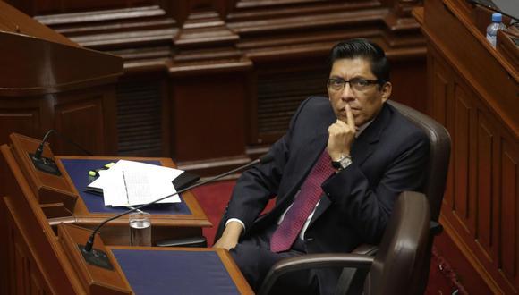 El ministro de Justicia, Vicente Zeballos, destacó la experiencia política del congresista Carlos Bruce. (Foto: GEC)