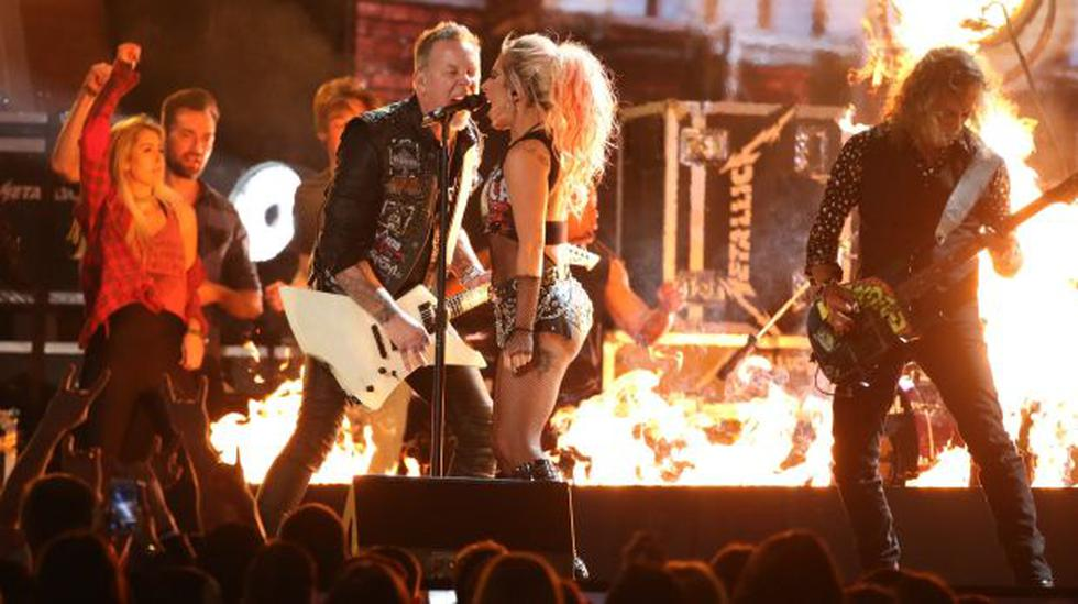 La presentación de Metallica y Lady Gaga en el Grammy fue opacada por los problemas de audio. (Reuters)