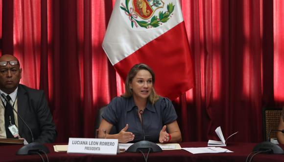 La congresista Luciana León solicitó se debata caso de Moisés Mamani en el pleno del jueves 7 de marzo. (Foto: Rolly Reyna / GEC)